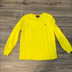 Long sleeve polo tee shirt size 6